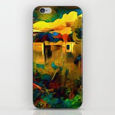 Trentham gardens in vivid colours iPhone & iPod Skin by SiwaBudda | Society6