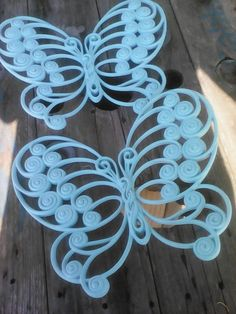 Vintage mid-century Homco butterfly wall by vintagetreasuremap
