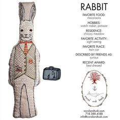 Coral & Tusk - Rabbit Pocket Doll