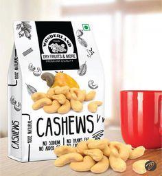 Creative Packaging Design of Wonderland Premium Dry Fruits - Cashews Designed by DesignerPeople Fruit Packaging, Seed Packaging, Food Packaging Design, Packaging Design Inspiration, Packaging Dielines, Cookie Packaging, Packaging Ideas, Label Design, Package Design