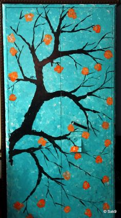 Hand painted steel Almirah