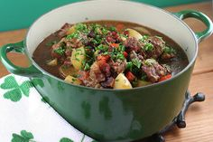 irish | Enhance the flavors of a simple Irish stew by browning the lamb first ...