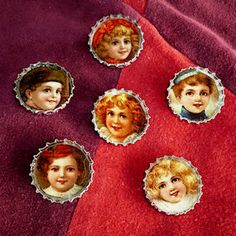 vintage image bottlecap magnets, I want to make these with images from 1950's ads