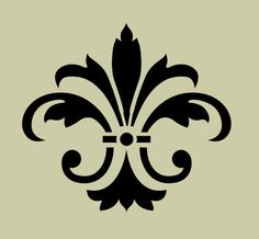 STENCIL Fleur de lis No 8 5x4.5 by ArtisticStencils on Etsy, $10.00