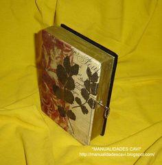 Caja libro, con llave