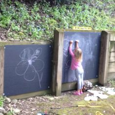 chalkboards for the play area