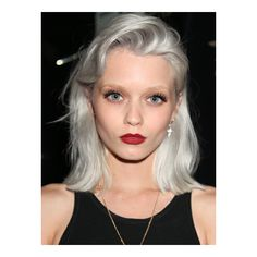 Beauty trend 50 shades of grey hair ❤ liked on Polyvore featuring models and people