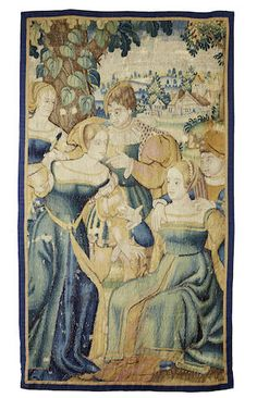 A 16th century tapestry fragment, Flemish