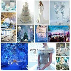 Wedding board for winter wedding
