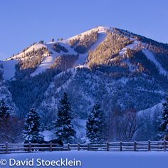 Baldy Mountain. World Famous Skiing. Ketchum, Idaho