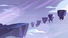 Animation Background for Rebecca sugar's show 'Steven Universe'. Illustration more than likely created by Jasmine lai (Or someone else on the Universe team) Steven Universe Wallpaper, Steven Universe Background, Cartoon Background, Animation Background, Computer Wallpaper, Cartoon Wallpaper, Purple Backgrounds, Wallpaper Backgrounds, Wallpaper Pc