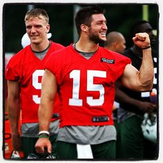 A confidant Tim Tebow at NY Jets minicamp (June 14, 2012)