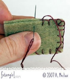An excellent tutorial on the blanket stitch. Better to have this more than once than not at all!