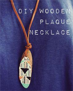 DIY Wooden Plaque Necklace