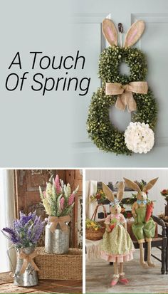 From bunny wreaths to floral arrangements, we have fresh spring décor to brighten up your home. Spring Projects, Spring Crafts, Decor Crafts, Diy And Crafts, Tire Craft, Easter Crafts, Easter Decor, Easter Ideas, Spring Home Decor