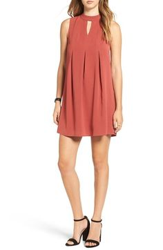 Free shipping and returns on Cream and Sugar Pleated Shift Dress at Nordstrom.com. Subtle inverted pleats shape a retro-cool sleeveless shift styled with a peekaboo front keyhole and a sweet bow tie at back.