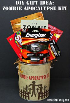 Just about the most fun use for the Energizer headlamps I've ever seen. A DIY Zombie Apocalypse Survival Kit. For all you zombie lovers out there. So, so fun.