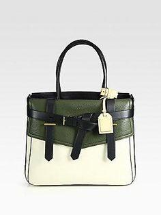 Reed Krakoff  designer  handbag  purse colorblock Work Purse b0a60eddd23af