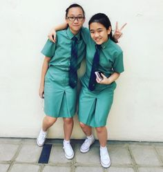 School Uniforms, School Uniform Girls, Girls Uniforms, Singapore School, Secondary School, Midi Skirt, Rain Jacket, Windbreaker, Student