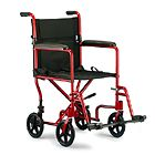 """Invacare Product Catalog - Invacare® Lightweight Aluminum Transport Chair (19""""x16"""") RED"""