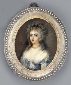 Countess de Genlis de St. Aubin by Pierre Violet (Christie's) | Grand Ladies | gogm
