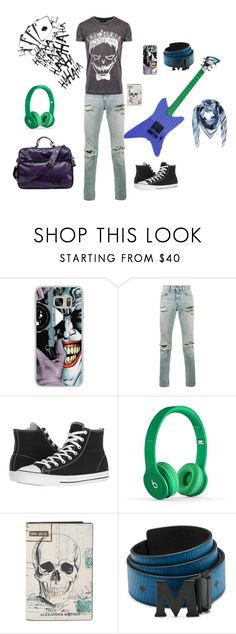 """Joker"" by loa-chan ❤ liked on Polyvore featuring jared, Casetify, Yves Saint Laurent, Converse, Beats by Dr. Dre, Alexander McQueen, MCM, men's fashion and menswear"