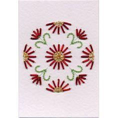 Bead Medallion 4: Daisy Stitching Cards pattern