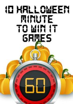 10 Halloween Minute to Win It Games