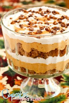 OMG~ Pumpkin Mousse Trifle! {Cupcakes with Sprinkles}