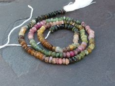 Watermelon Tourmaline Faceted Rondelles 4x2mm - Full 14 inch strand on Etsy, $7.25