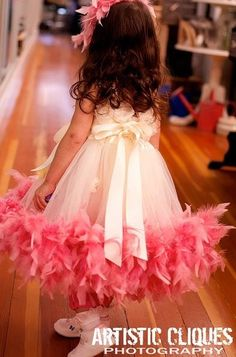 Flower Girl Dress | Couture Tutu Dresses with Feathers
