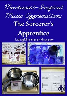 I'm sharing some Montessori-inspired activities here for young elementary children and preschoolers who want to be included in a homeschool family study of The Sorcerer's Apprentice.