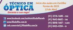 Óptica Técnico Filadélfia cwb 41-3218-1600 cwb.comercial@filadelfia.com.br