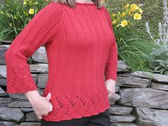 Ravelry: Chinese Lace Pullover pattern by Angela Hahn