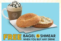Einstein Bros Bagels coupon: Free Bagel & Shmear with any drink purchase - Money Saving Mom®