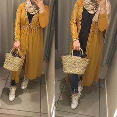 Islamic Fashion, Muslim Fashion, Modest Fashion, Fashion Outfits, Fasion, Hijab Style Dress, Casual Hijab Outfit, Hijab Wear, Stylish Hijab