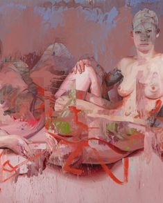 Jenny Saville's New Paintings Are About Motherhood, Figure Painting, Painting & Drawing, Painting Abstract, Acrylic Paintings, Knife Painting, Jenny Saville Paintings, Portrait Art, Portrait Paintings, Art Paintings