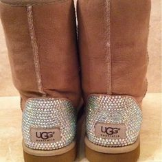 Classic Ugg Short Boots Embellished With Swarovski from Opulent Creations  Boutique