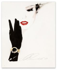 an illustration made with ink, watercolor, and gouache on acetate and paper by David Downton