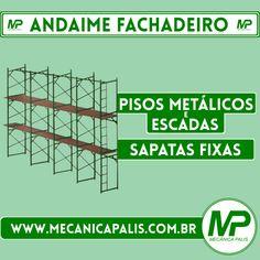 O Andaime Fachadeiro é o equipamento ideal para a execução de serviços em fachadas. Esse e muitos outros produtos em nossa loja virtual! Confira: www.mecanicapalis.com.br/