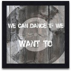 """13"""" We Can Dance Giclee Wall Art - #Y5850 ($100) ❤ liked on Polyvore"""