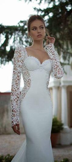 White lace bodice dress