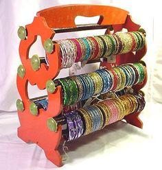 Bangleempoirum! Indian Bangle Stand Bracelet Display Rack Holder, Orange.