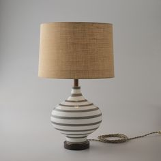 Lafayette Lamp (Shadow Gray Stripes) from Schoolhouse Electric. $389.00 http://www.schoolhouseelectric.com/lafayette-lamp-shadow-gray-stripes.html