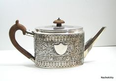 18th Century Sterling Teapot by Andrew Fogelberg and by Nachokitty,