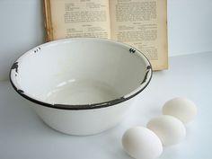 I like enamel bowls and pitchers. Every time I see enamal ware , I think of Dana.