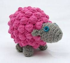 These cute little sheep are made with a bobble stitch. They look great in any colour, and double as a fun stacking game!