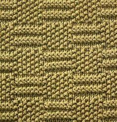 """Square = Square Stitch. Checkered horizontal knitting pattern with seed stitch rectangles taking turns with """"="""" shapes. (Hagaina Dwi Septya Rainy FD1A1)"""