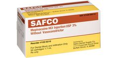 Mepivacaine from Safco Dental Supply! Mepivacaine HCl 3% injection, USP plain (no vasoconstrictor). 1.7ml cartridges. - Unsurpassed quality and reliability. - Complete satisfaction guaranteed. #anesthetic #dental