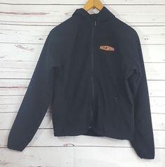 Harley-Davidson® Mens Mid-Layer Softshell Hooded Jacket Size Medium Black 23164a274b18c